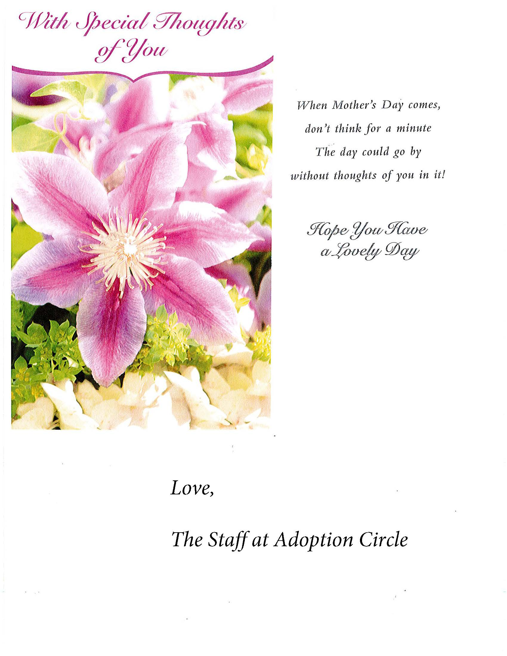 Happy Mother's Day from your friends at Adoption Circle
