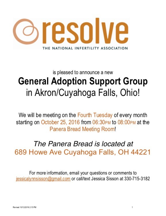 Adoption Support Group Flyer